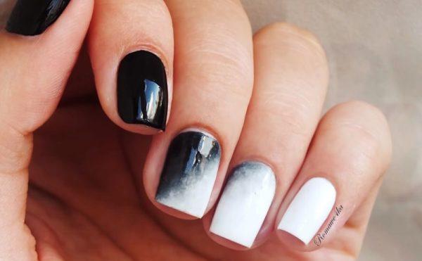 деграде на ногтях