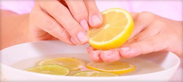 Ванночки с соком лимона