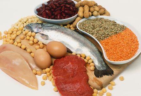 белковой и растительной пищи