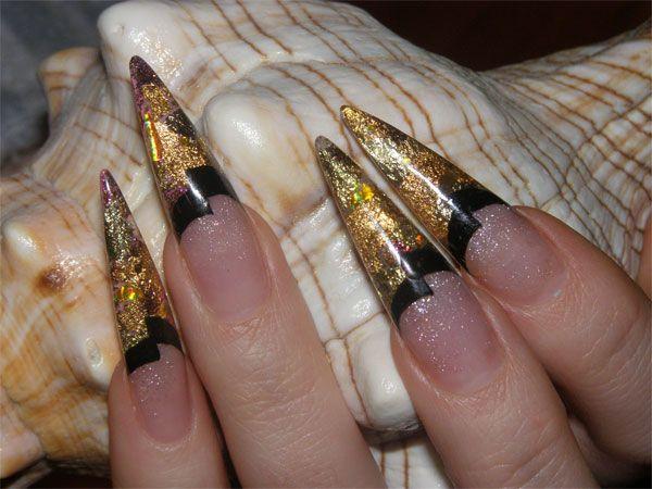 Дизайн ногтей с фольгой 2