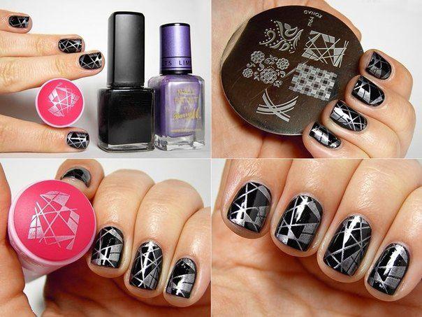 Дизайн ногтей стемпинг