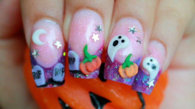 Ногти на хэллоуин