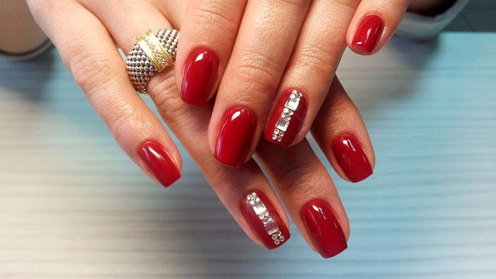 Красные ногти-6