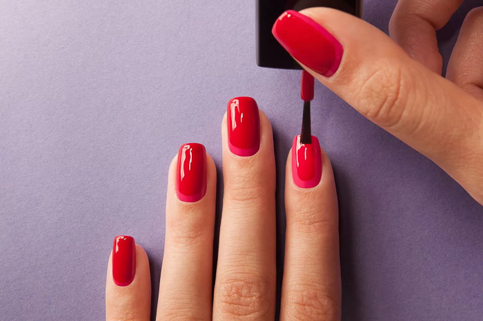Красные ногти-7