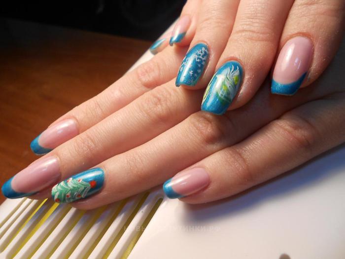 Наращивание ногтей на типсы (3)
