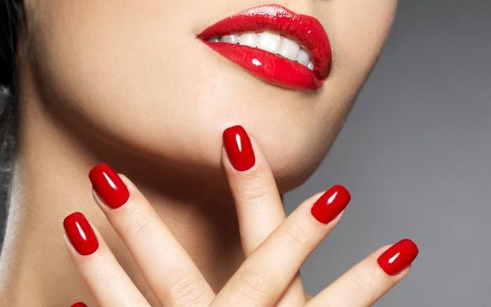 Роскошные красные ногти (1)