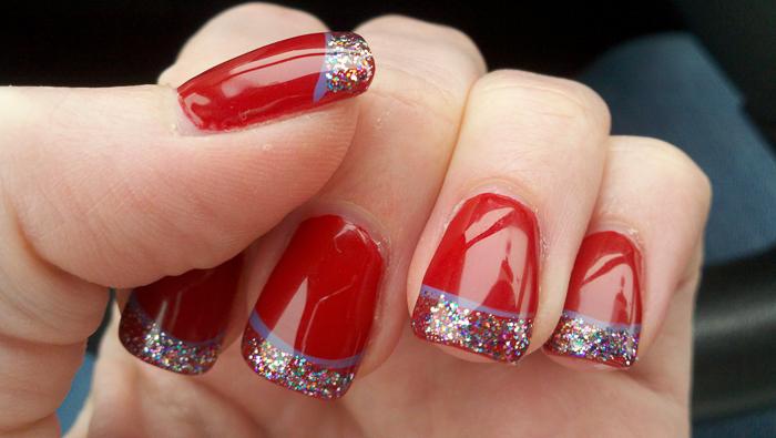 Роскошные красные ногти-3