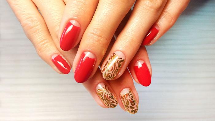 Роскошные красные ногти (6)