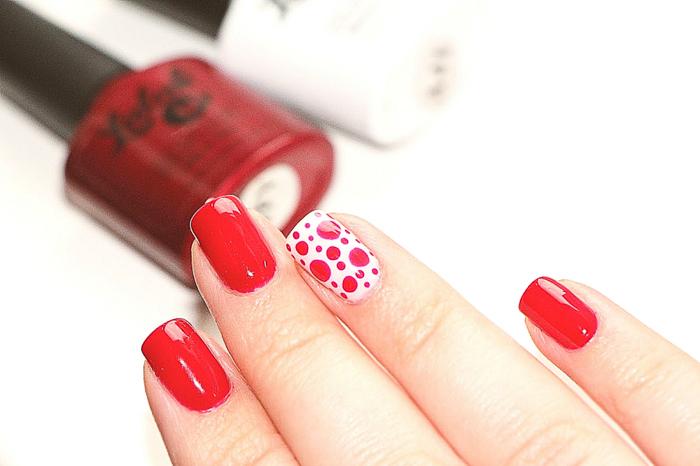 Роскошные красные ногти-7