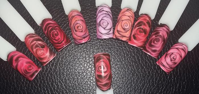 Маникюр с розами мастер класс