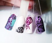 Роза на ногтях (5)