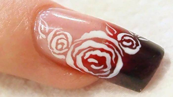 Роза на ногтях (6)