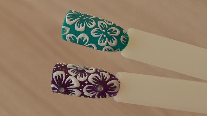 Роза на ногтях (7)