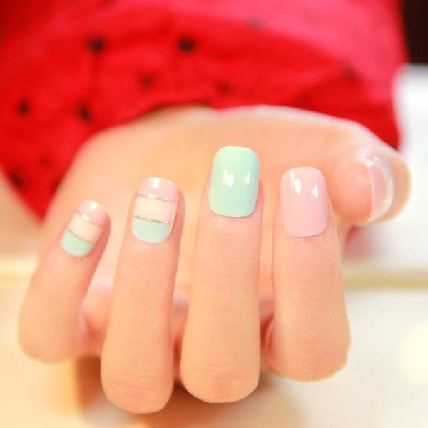 мягкая квадратная форма ногтей