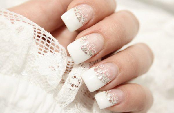 свадебный маникюр на короткие ногти фото для невесты